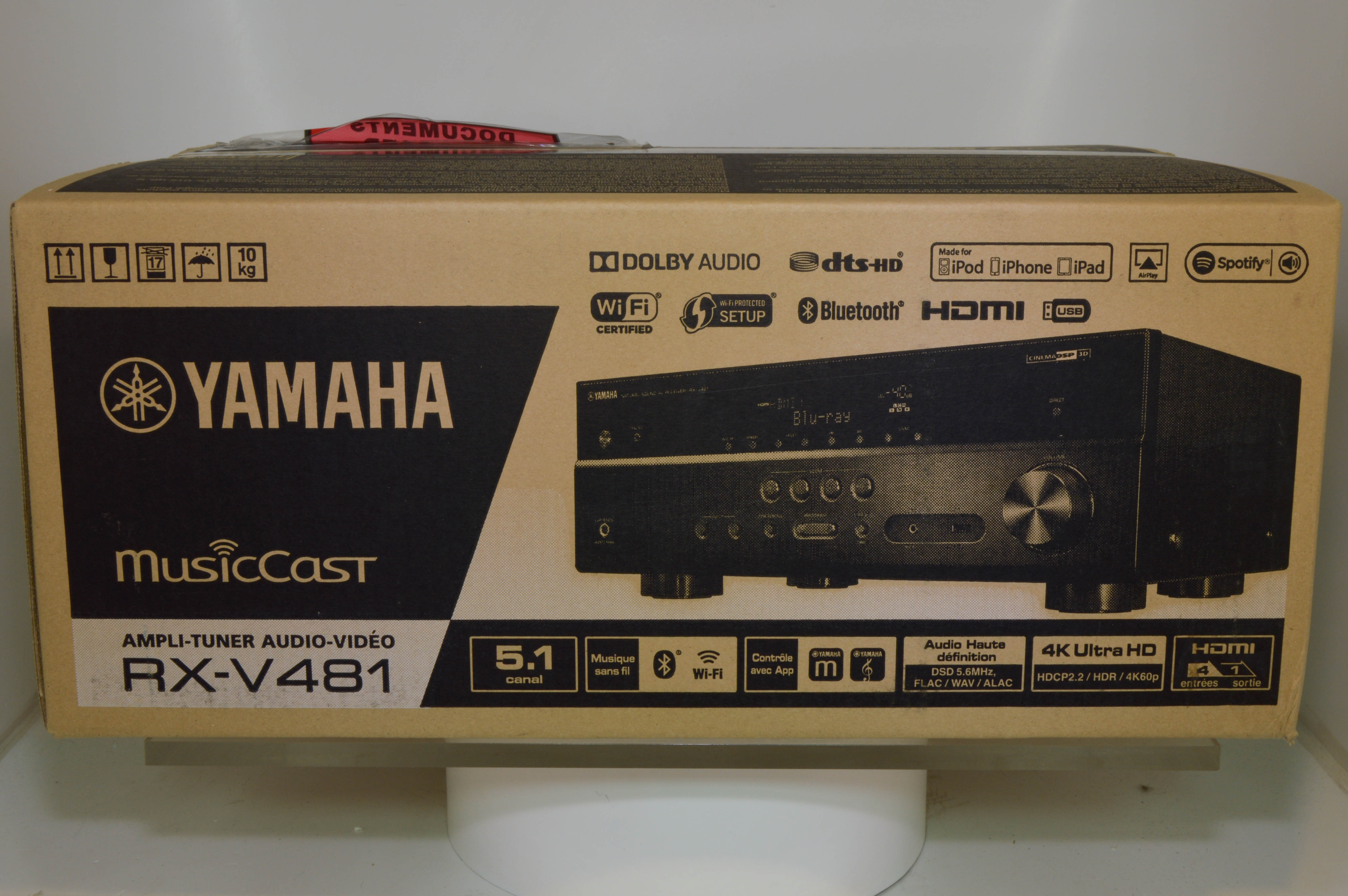 Yamaha rx v481 av receiver 2ndhandhifi used hifi for Yamaha receiver customer support phone number